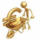 kruiwagen met Euro
