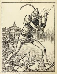 Zie naar het merkteken van de Vlaamse ratten