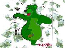Om het geld danst de groene beer