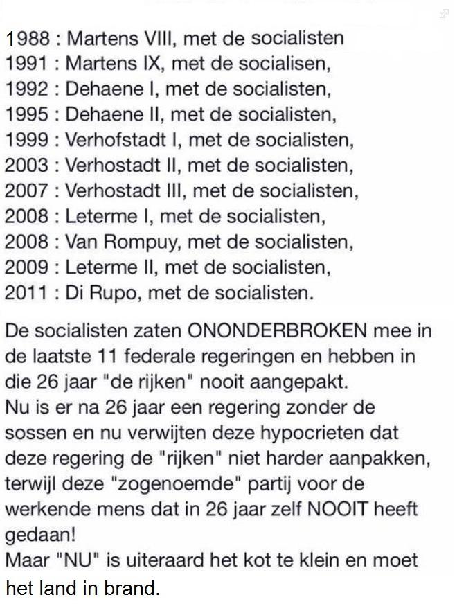 met de socialisten
